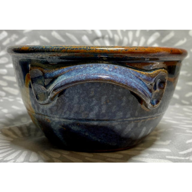 1990s Vintage American Studio Pottery Glazed Bread Baking Bowl For Sale - Image 4 of 7