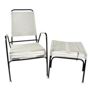 Ames Aire Lounge Chair & Ottoman Set - a Pair