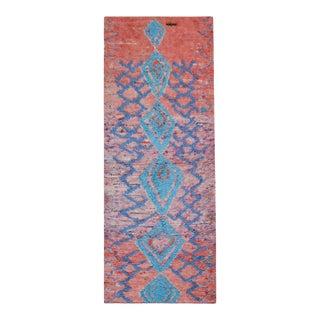 "Vintage Moroccan - Boucherouitte Rug 4'0"" X 9'6"" For Sale"