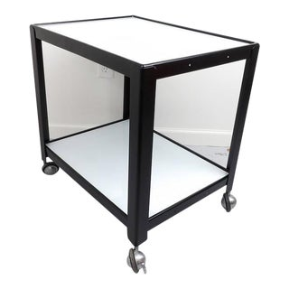 Industrial Black & White Rolling Cart For Sale