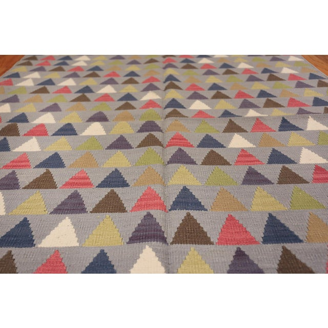 Vintage Swedish Kilim For Sale - Image 4 of 8