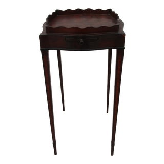 Early 20th Century English Nightstand With Slide Out Tray For Sale