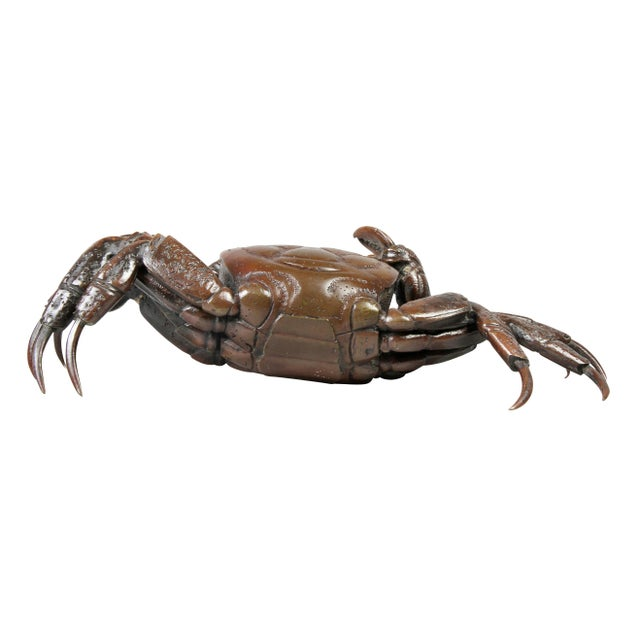 Japanese Meiji Articulated Bronze Crab For Sale In Boston - Image 6 of 10