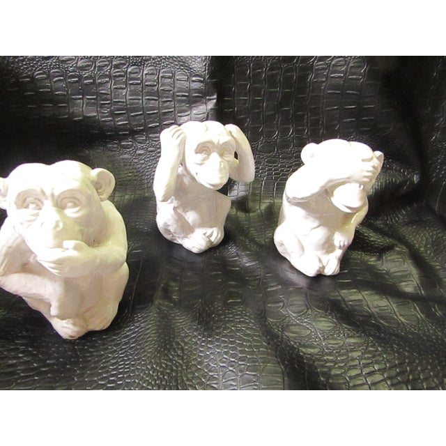 """Hear No, Speak No, See No Evil"" Monkey Statues - Set of 3 - Image 2 of 8"