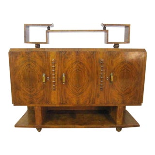 French Art Deco Sideboard Credenza Bakelite Handles For Sale