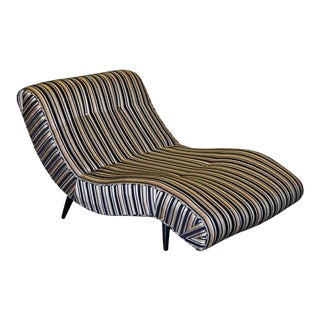 Vintage Adrian Pearsall Scoop Wave Chaise Lounge Chair For Sale