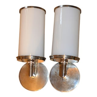 Visual Comfort Studio Cylinder Sconces - a Pair