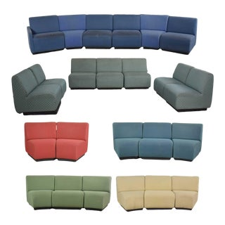 August Inc Modern Modular Sectional Sofa Straight & Wedge Pieces Style of Chadwick For Sale