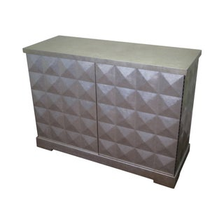 Baker Barbara Barry Silver 2 Door Diamond Cabinet