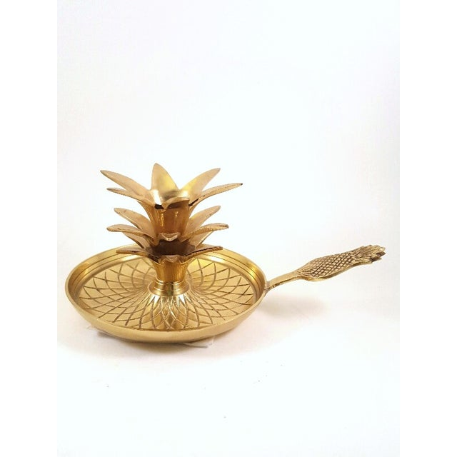 Hollywood Regency Brass Pineapple Candle Holders - Image 6 of 6