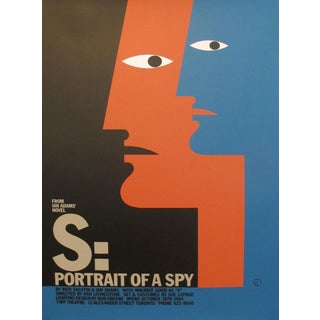 1980s Original Canadian Poster - S: Portrait of a Spy by Theo Dimson For Sale