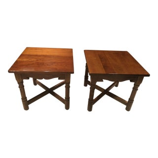 1960s Mission Stickley Cherry End Tables - a Pair For Sale