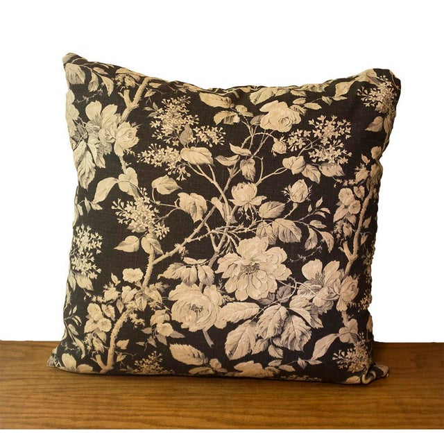 """A custom designer 20""""x20"""" Ralph Lauren Home linen pillow in the pattern """"Brandy Floral"""". The floral print is on both sides..."""
