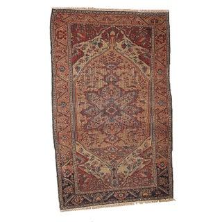 1880s Hand Made Antique Persian Sarouk Farahan Rug 3.1' X 5.4' For Sale