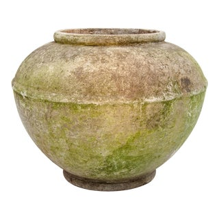Cast Stone Planter With Patina For Sale