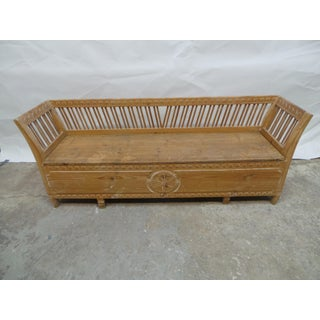 Hand Carved Swedish Gustavian Sofa / Bed Preview
