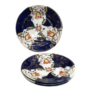 Antique Welsh Lusterware Wall Plates - Set of 4 For Sale