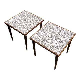 Mid Century Modern Kraftware Tile Mosaic End Tables - a Pair For Sale