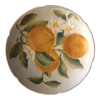 French Faience St Clement Fruit Compote For Sale