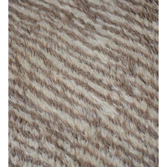 Handwoven Deep Pile Wool Rug For Sale In Los Angeles - Image 6 of 7