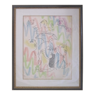"""La Chapelle St. Pierre"" Framed Lithography by Jean Cocteau For Sale"