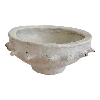 Hand-Crafted Papier-Mache Bowl For Sale