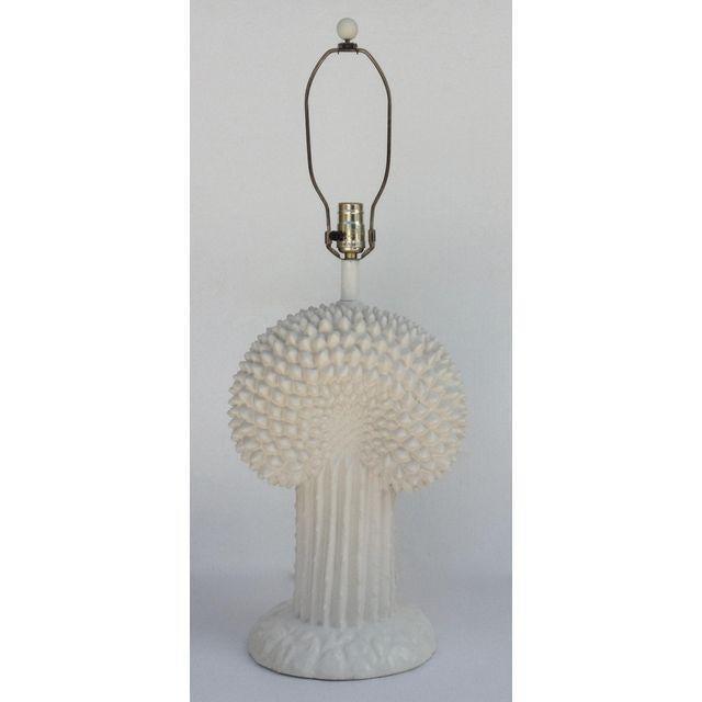 John Dickinson Plaster Palm Cactus Lamp For Sale - Image 11 of 11