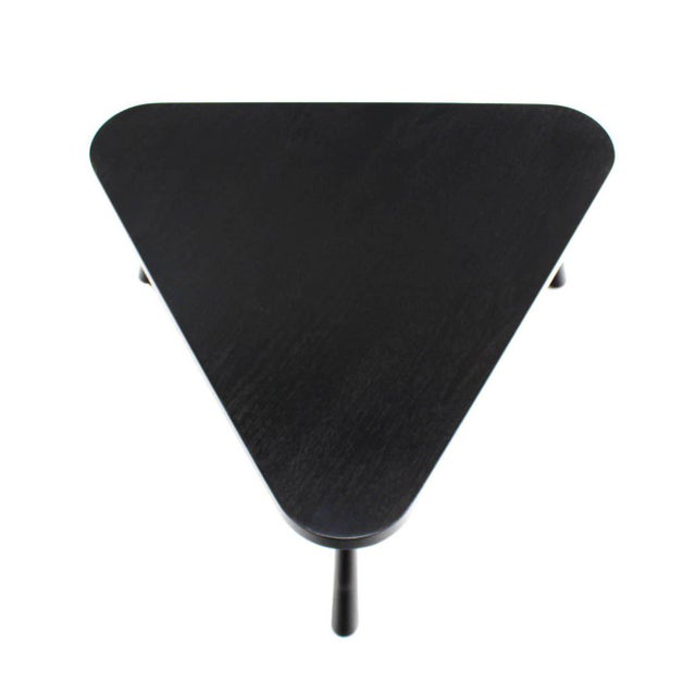 Lacquer Gibbings Black Lacquer Triangular Coffee Table For Sale - Image 7 of 8