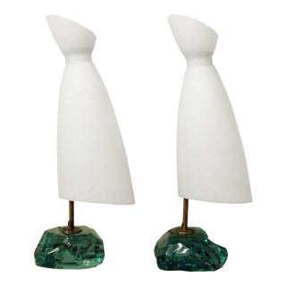 Roberto Rida Rock Shaped Table Lamps - A Pair For Sale