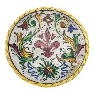 1900s Antique Hand Painted Deruta Majolica Raffaellesco Plate For Sale