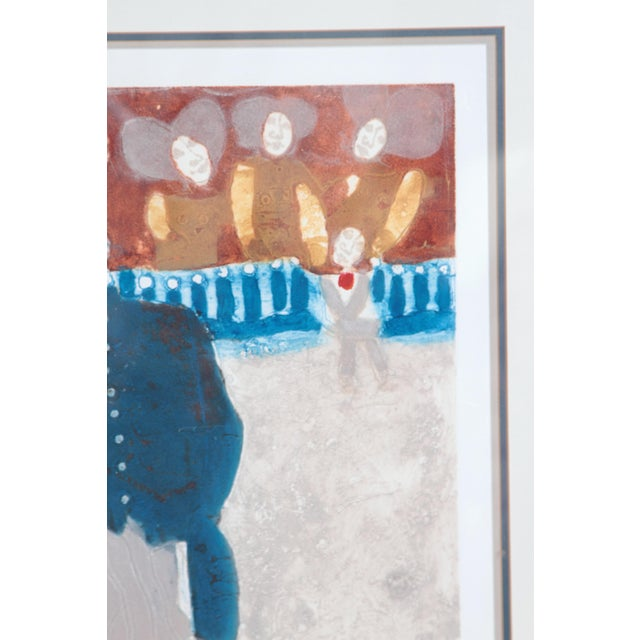 Abstract Original Etching Titled Le Rendez-Vous by Theo Tobiasse For Sale - Image 3 of 13