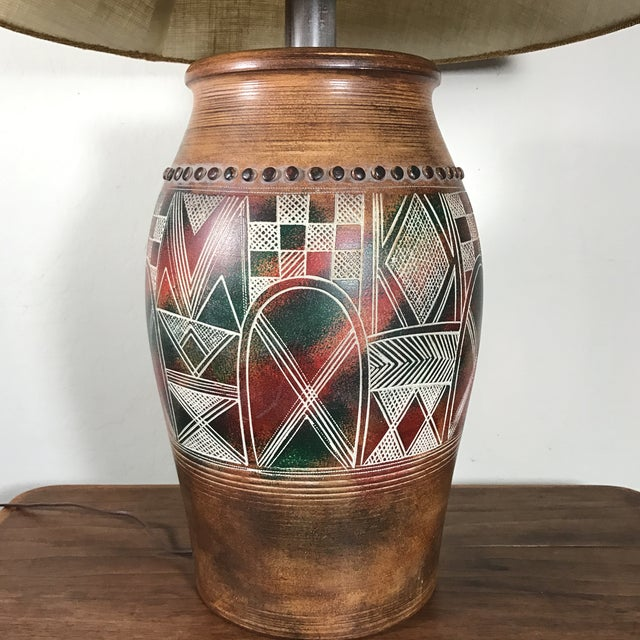 Boho Chic Vintage Casual Lamps of California Table Lamp For Sale - Image 3 of 8