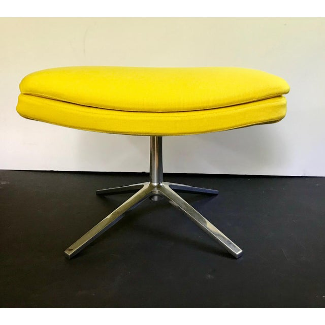 Yellow B & B Italia Contemporary Yellow Ottoman Designed by Jeffrey Bernett For Sale - Image 8 of 8