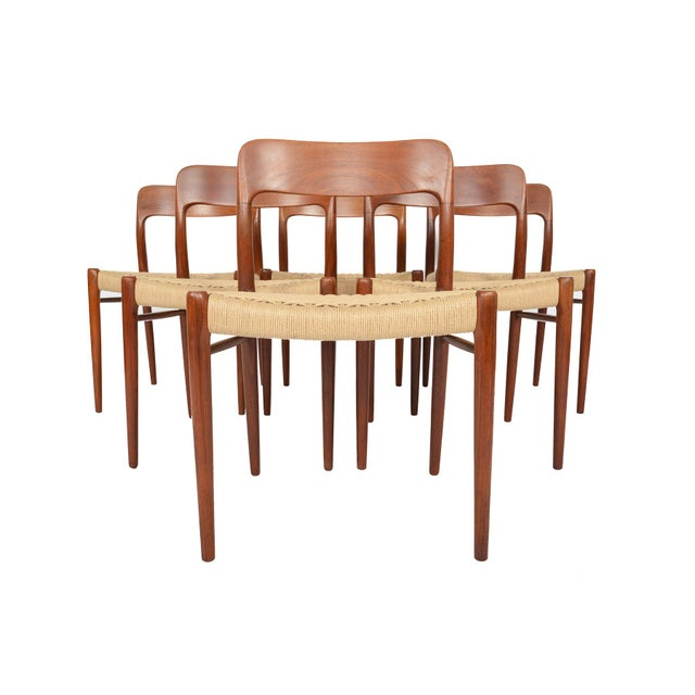 Møller Model 75 Teak Dining Chairs - Set of 6 - Image 6 of 10