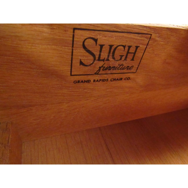 Mid-Century Walnut Dresser With Chrome Accenting by Sligh Furniture For Sale - Image 12 of 13