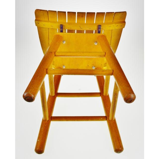 Mid Century Arthur Umanoff Style Slatted Wood Swivel Stool For Sale - Image 12 of 13