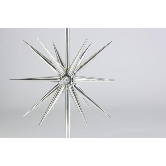 Mid-Century Modern Aluminium Starburst Lamps - a Pair For Sale - Image 3 of 6