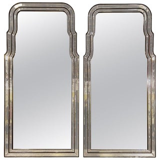 Antiqued Frame Console Mirrors- A Pair For Sale