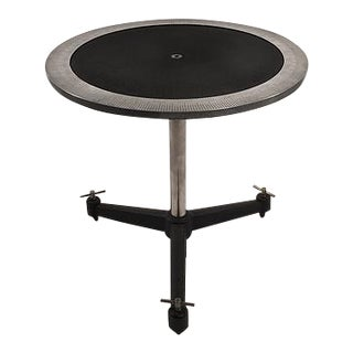 Industrial Gauge Side Table For Sale