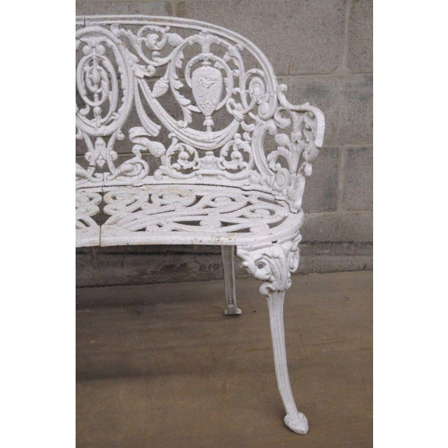 Antique Cast Iron Victorian Garden Bench - Image 4 of 11