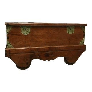 19th Century Rustic Balinese Trunk on Wheels For Sale