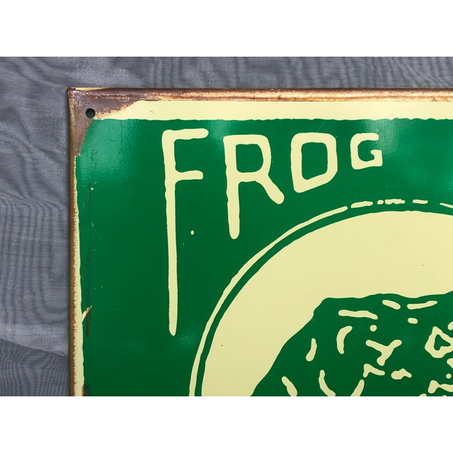 Late 20th Century 1990s Marty Mummert Distressed Metal Wall Sign For Sale - Image 5 of 13