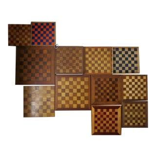 Vintage Chessboards - Set of 12 For Sale