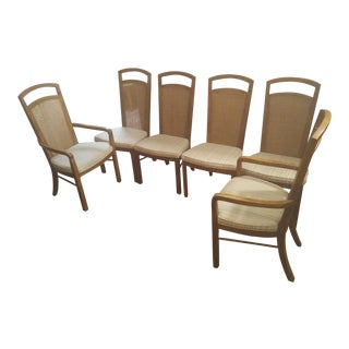 Drexel Heritage Caned Back Dining Chairs - Set of 6