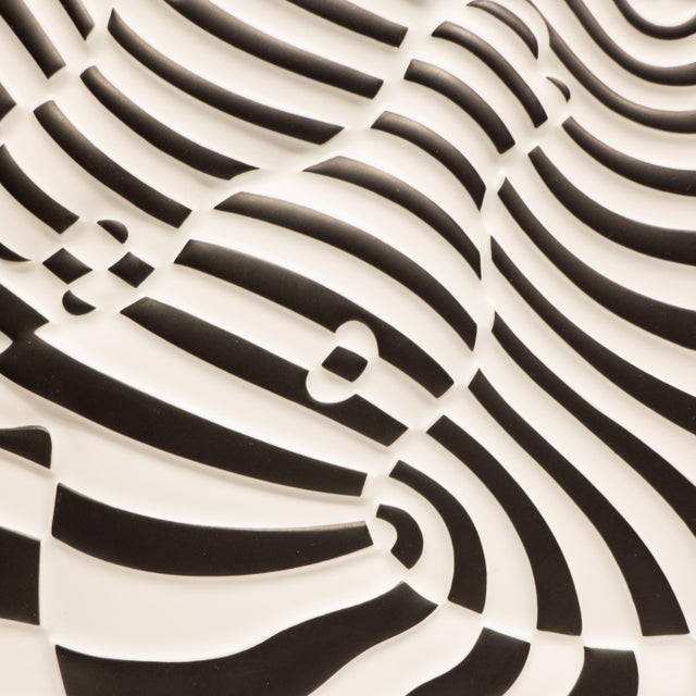 Victor Vasarely Op Art Plaque for Rosenthal For Sale - Image 5 of 7