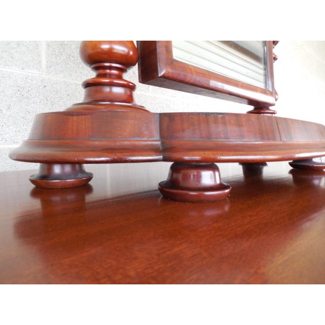 Features Fine Quality Hand Made Construction - Unique Bun Style Feet, Figured Veneers,( Glass Looks to have been replaced...