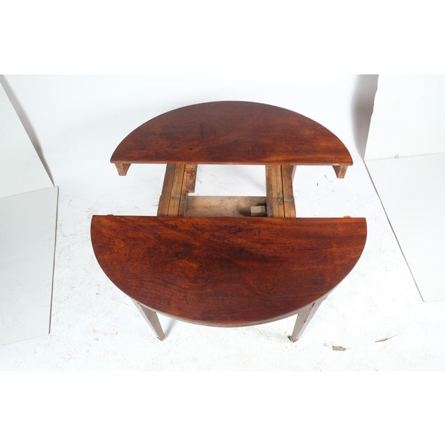 French Louis XVI Style Oval Mahogany Center Table For Sale - Image 9 of 10