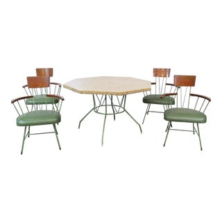 Richard McCarthy Wrought Iron and Ash Dining Table & Chair - Set of 5