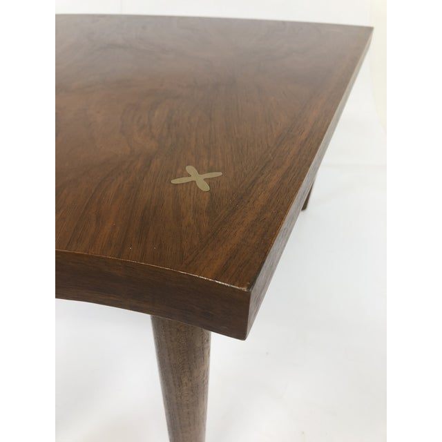 Aluminum Mid Century Modern Wedge Table - Merton Gershun for American of Martinsville For Sale - Image 7 of 13