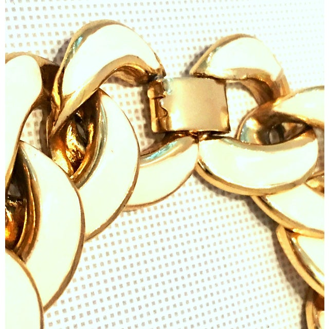 20th Century Les Bernard Gold & Enamel Chain Link Choker Necklace For Sale In West Palm - Image 6 of 9